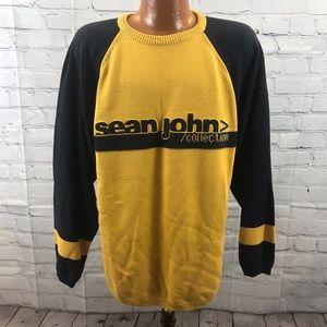 Vtg Sean John Spellout Raised Letter Sweater L
